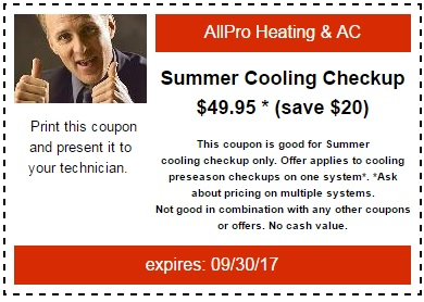 Cooling Season Coupon